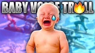 BABY VOICE CHANGER & SOUNDBOARD TROLLING ON FORTNITE!