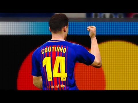 Barcelona vs Manchester City (Coutinho Scored a Goal) UCL 2018 Gameplay