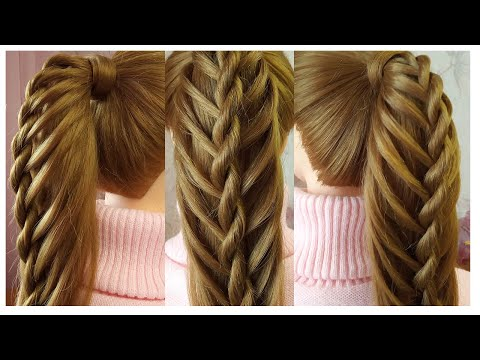 Quick & Easy Ponytail Hairstyle   Amazing Hairstyle For Girls   Queue de cheval originale thumbnail