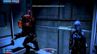 Mass Effect 3 Citadel DLC: Wrex discovers Liara is one-quarter krogan