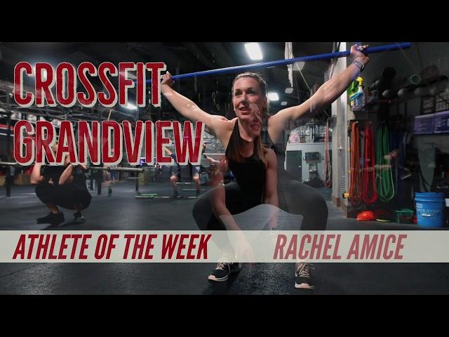 Athlete of the a Week - Rachel Amice.