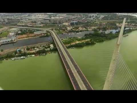 Most na Adi iz vazduha - Ada bridge Aerial