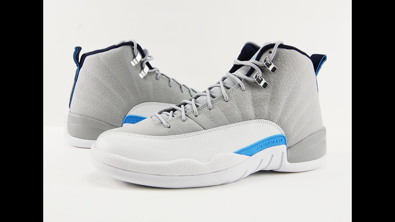 quality design 35910 ae5cc Air Jordan 12 Wolf Grey UNC University Blue Review + On Feet