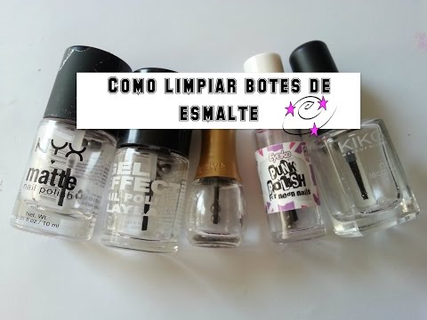 Como limpiar botes de esmalte de uñas/ How to clean nailpolish bottles