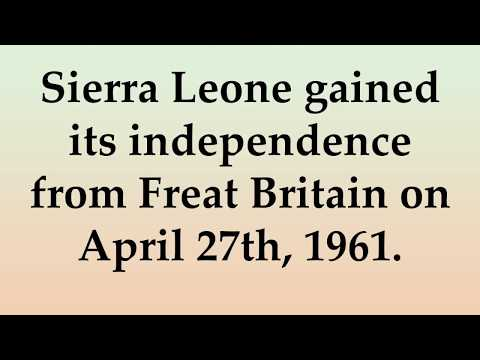 Historical and Cultural Facts about Sierra Leone