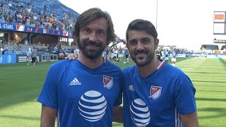 Andrea Pirlo & David Villa talk MLS All-Star Game (ENGLISH)