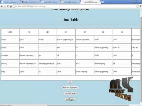 Final Year Projects 2015 Time Table Management - YouTube