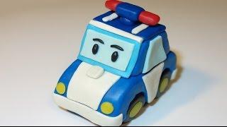 Робокар Поли из пластилина. Лепим. Мультфильм. Robocar Poli.