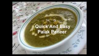 Quick Palak Paneer/spinach Curry