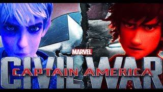Captain America Civil War ~ (Jack Frost vs.  Hiccup Haddock III)