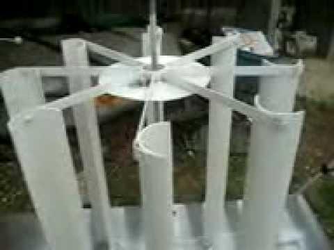 pvc vertical wind turbine - YouTube