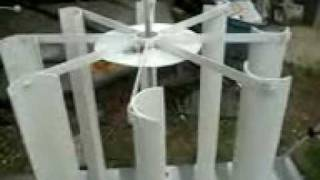 pvc vertical wind turbine
