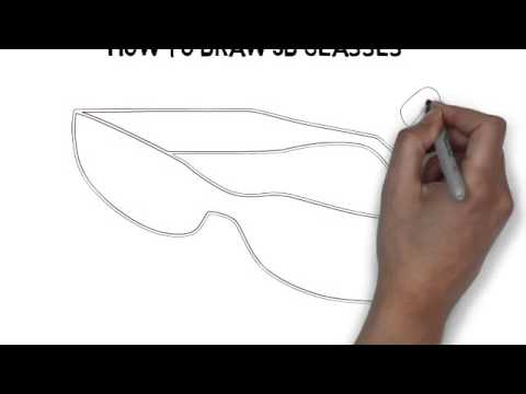 Line Drawing Glasses : How to draw d glasses youtube