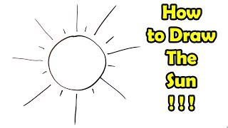 How to Draw The Sun in 20 seconds - VERY EASY - FOR KIDS