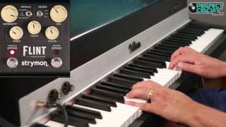 Strymon Flint Tremolo and Reverb Pedal on a Vintage Rhodes 73