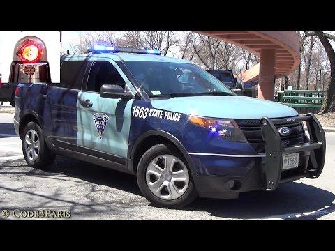 Massachusetts State Police Cars Responding - BEST OF