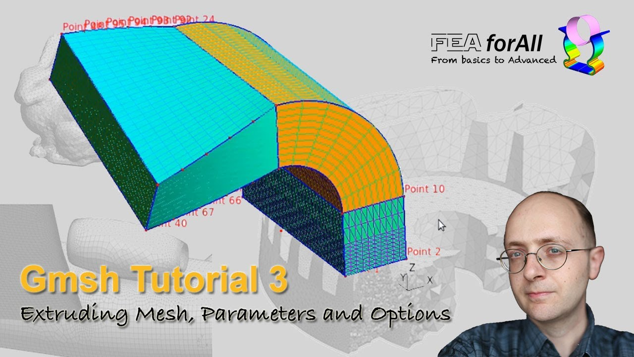 [GMSH tutorial 3] Extruding Mesh, Parameters and Options - t3.geo