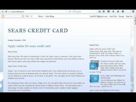sears credit card  how to apply online