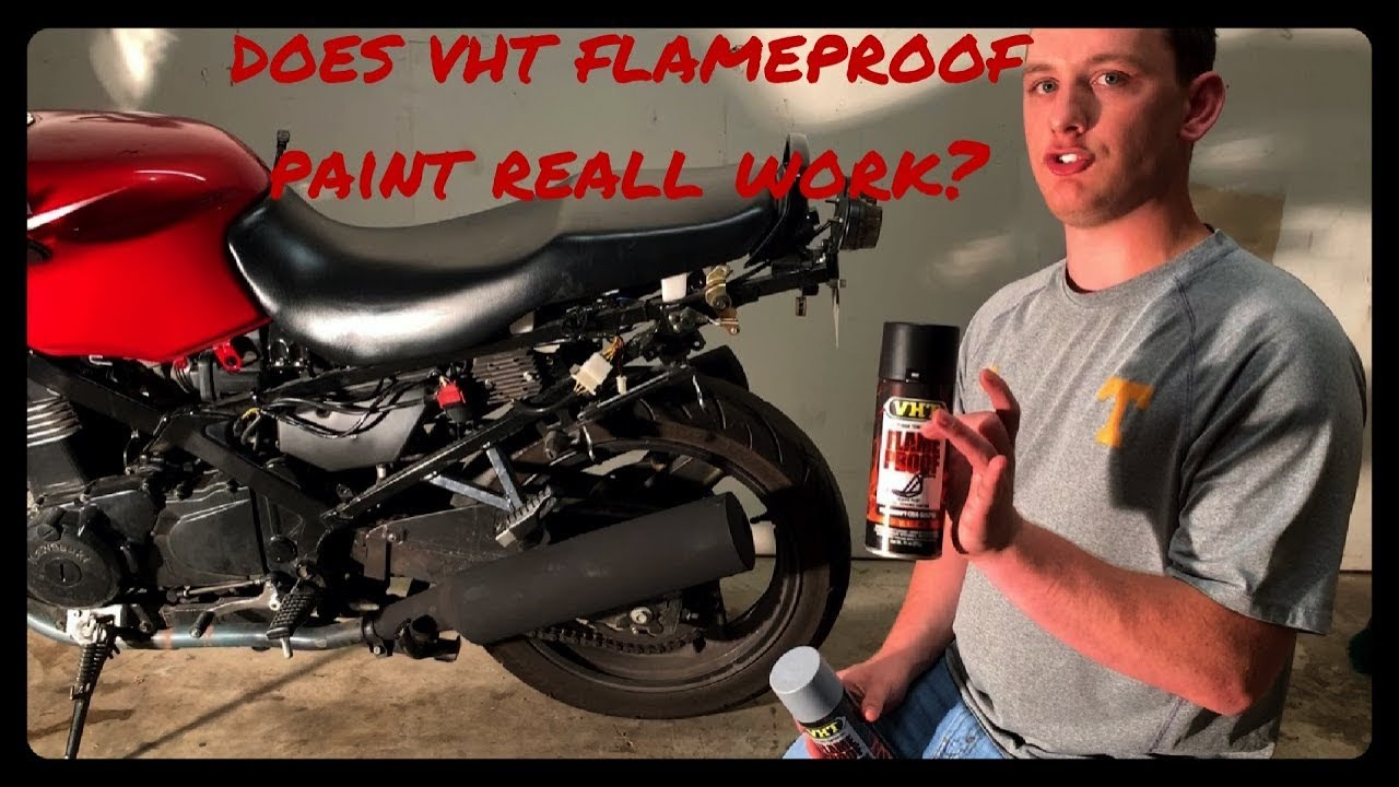 VHT Flameproof Paint and Primer Really Work-Here are the results Motorcycle Muffler Exhaust Pipes P2 - YouTube