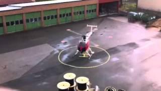 Helikopter utanför jobbet