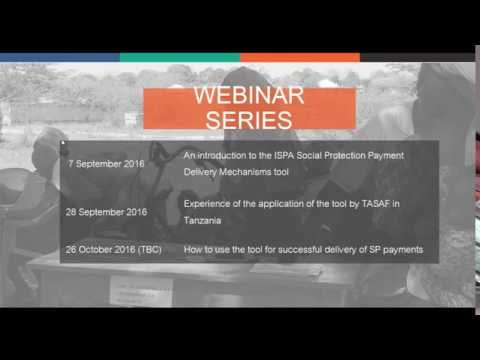 The ISPA Tool: Assessing the Quality of Social Protection Payment Delivery Mechanisms webinar