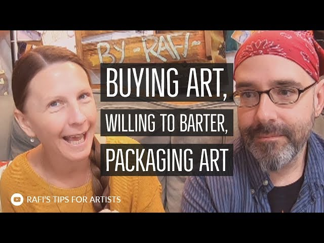 Artist Buying Art, Willing To Barter, Packaging At An Artshow