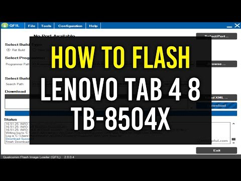 How to Flash Lenovo Tab 4 8 with QFIL Flash tool | Hindi - Urdu