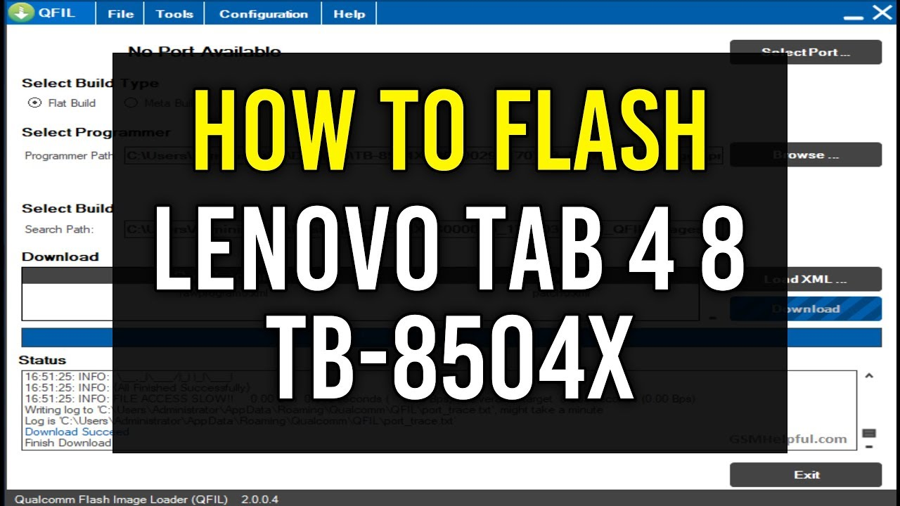 Lenovo tb 7504x flash tool