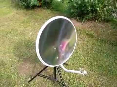 Спутниковая антенна из крышки для ведра)) - YouTube
