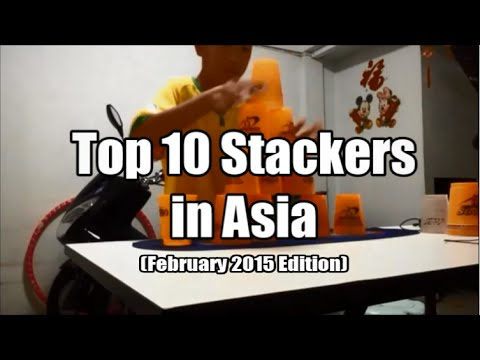 Sport Stacking: Top 10 Fastest Stackers in Asia (February 2015 Edition)