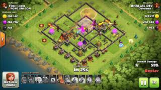 TOWNHALL 10 AIR ARMY ATTACK IN CLASH OF CLANS ONE OF THE BEST ATTACK COMBINATION