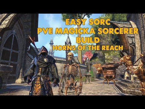 "ESO -  ""Easy Sorc"" PVE magicka Sorcerer Build - (Horns Of The Reach)"