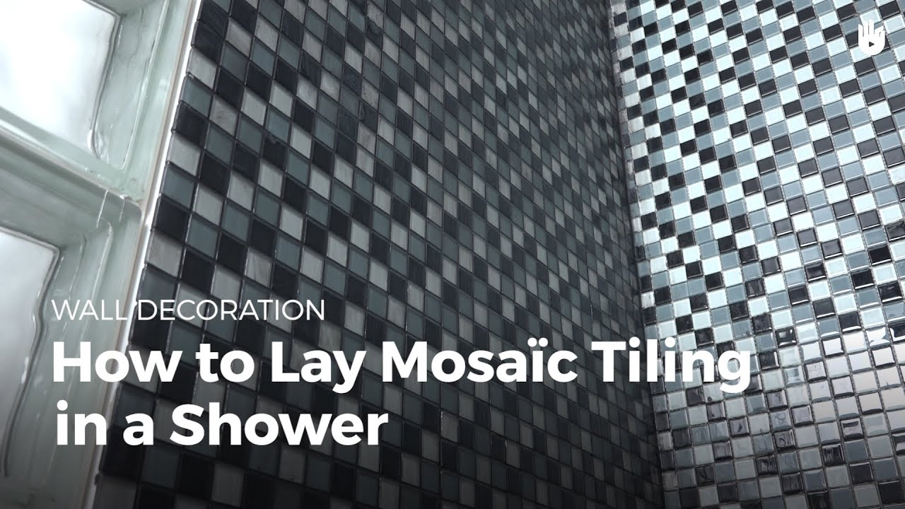 How to lay mosaic tiles in a shower diy projects youtube how to lay mosaic tiles in a shower diy projects solutioingenieria Gallery
