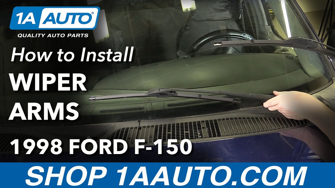 1990 ford f150 wiper motor wiring diagram telephone patch panel how to replace windshield arms 97 03 f 150 youtube