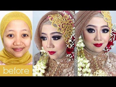 Tutorial Makeup Wedding Muslim By Inivindy Simpel Hijab Tutorial Youtube