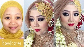 Tutorial Makeup Wedding Muslim By IniVindy + Simpel Hijab Tutorial