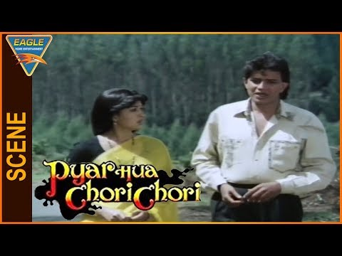 Pyar Hua Chori Chori Hindi Movie || Mithun Chakraborty Talking With Gouthami || Eagle Entertainment