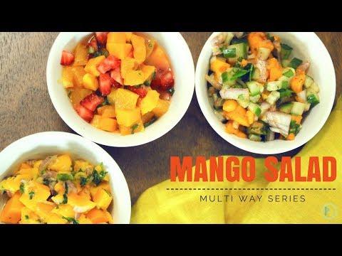Mango Salad - 3 Ways | Simple Indian Salad | Easy Indian Salad | Mango Recipes | Indian Mango Recipe