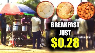 Cheapest Street Breakfast in Two Wheeler $0.28 Only