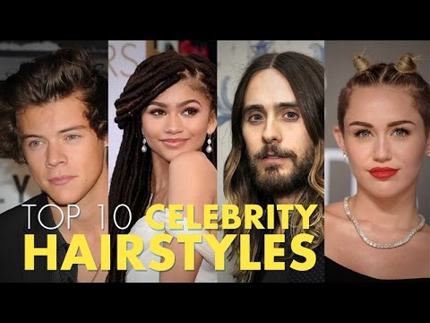 Top 10 Celebrity Hairstyles - YouTube