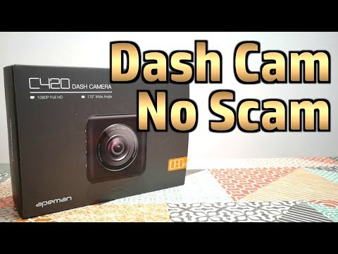 Apeman C420 Budget Dash Cam - Unboxing And First Impressions