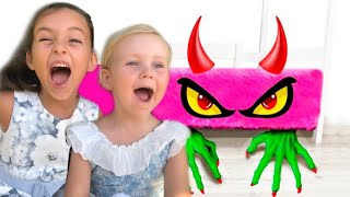 Melania and Laneya - Monster under my bed story for kids
