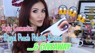 Kylie Jenner Eyeshadow Palette - Royal Peach Palette Review
