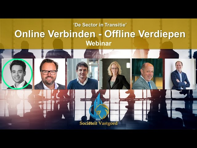 Online Verbinden - Offline Verdiepen - WEBINAR - De Sector in Transitie