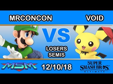 MSM 169 - CLG | VoiD (Pichu) Vs. SS | MrConCon (Luigi) Losers Semis - Smash Ultimate