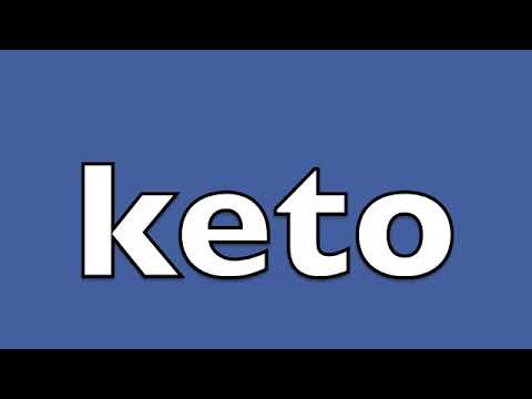 is it pronounced keto or keto diet