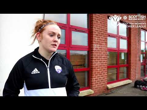 Scottish Building Society SWPL - Post Match Interview - Glasgow Girls (Lauren Evans)