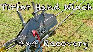Tirfor (type) Hand winch for 4x4 recovery