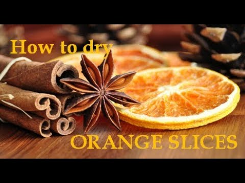 Potpourri Fai Da Te.How To Dry Orange Slices Easy Tutorial For Drying Orange