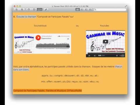 Grammar in Music